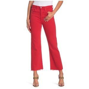 New GRLFRND Linda High-Rise Crop Flare Jeans